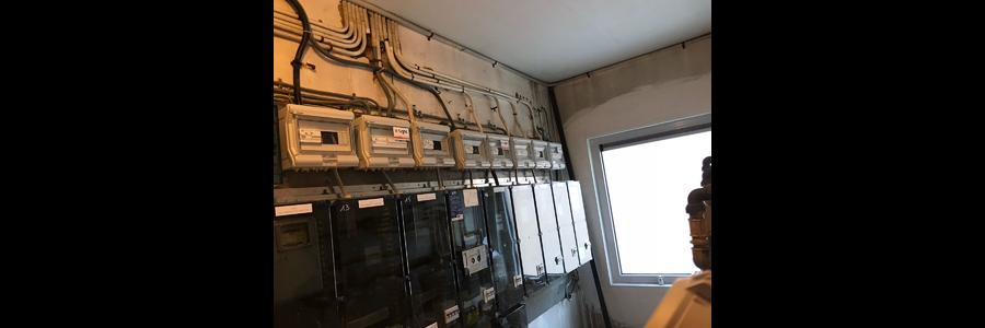 Vernieuwen van elektrische installatie's appartementsblokken